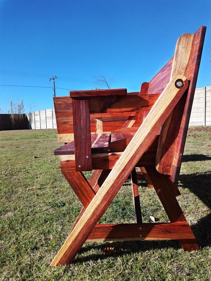 Folding Bench - Table in solid Kiaat