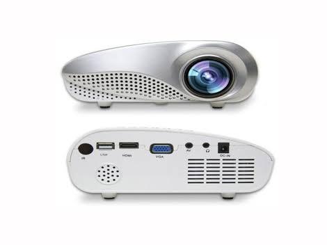 Projector HARWA LED Compact,12V Powered, Inputs: HDMI, SVGA, USB, AV. Light and powerfull.