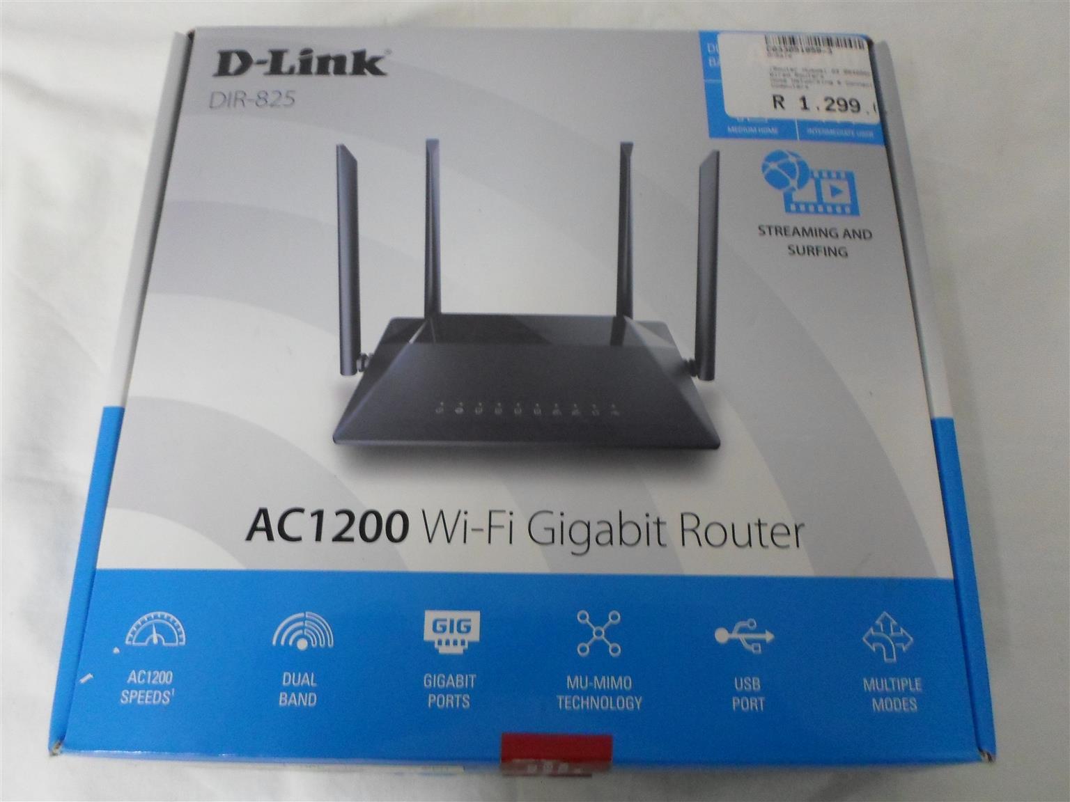 D-Link AC1200 WiFi Gigabit Router