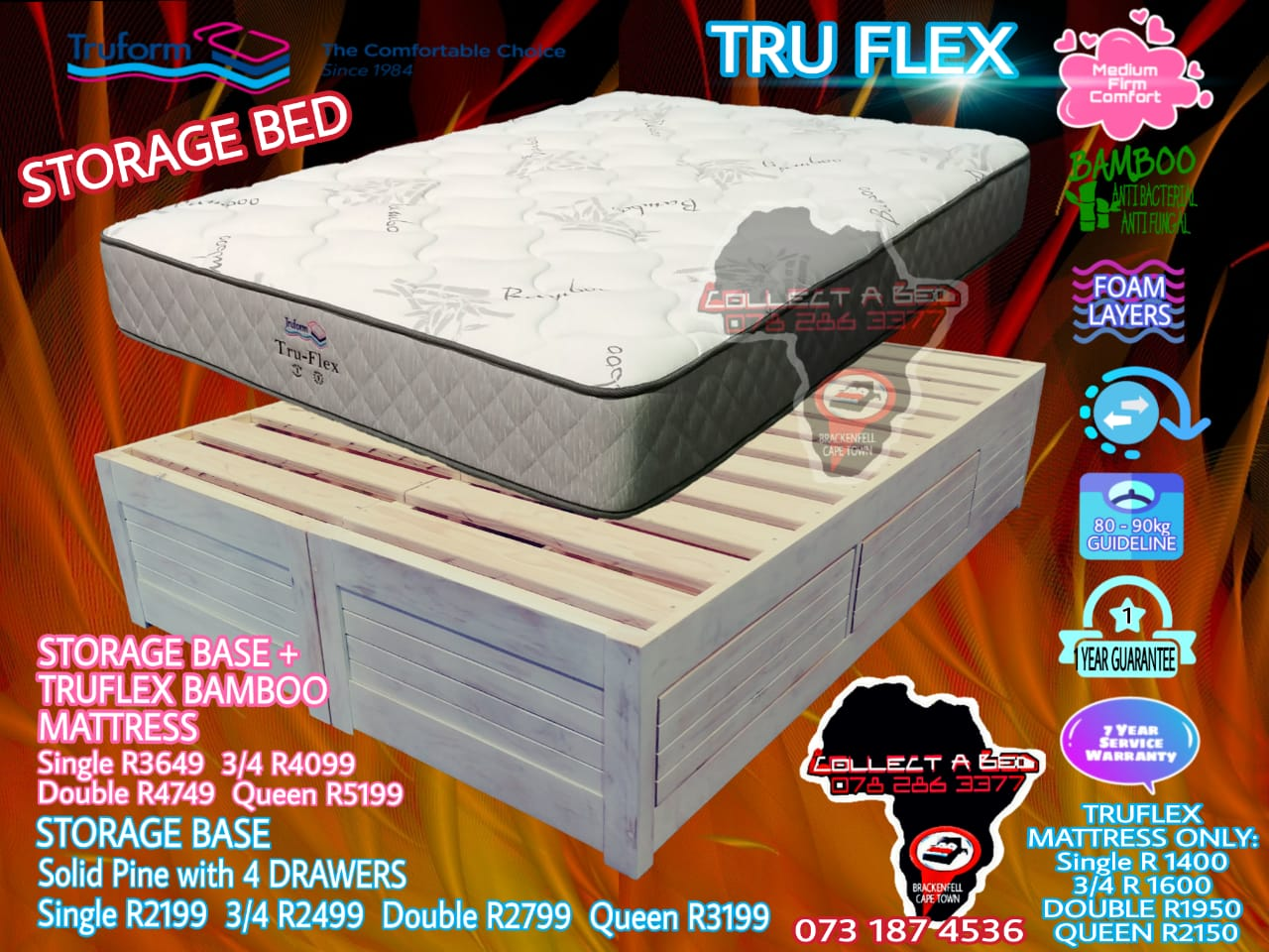 Lodge base bed for sale