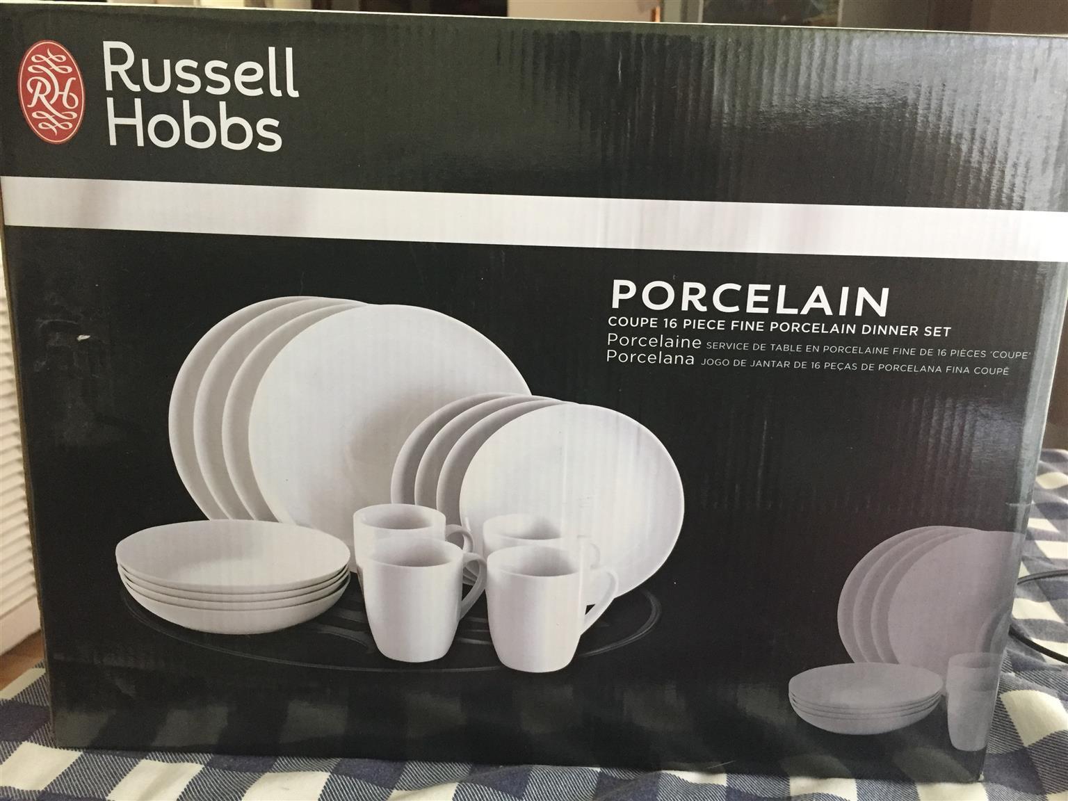RUSSELL HOBBS 16 PIECE PORCELAIN DINNER SET