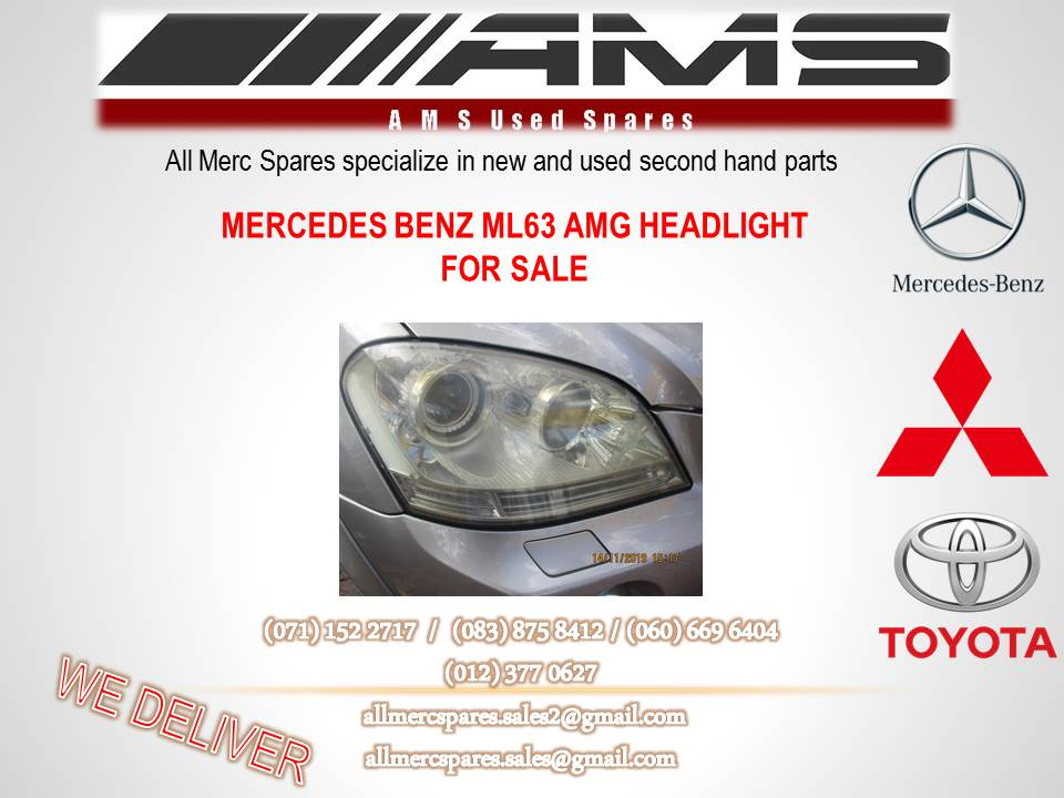 MERCEDES BENZ ML 63 AMG HEADLIGHT FOR SALE