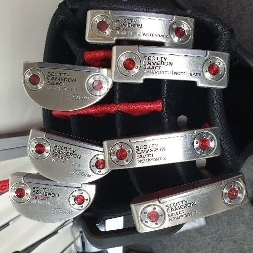 Putters. Scotty Cameron