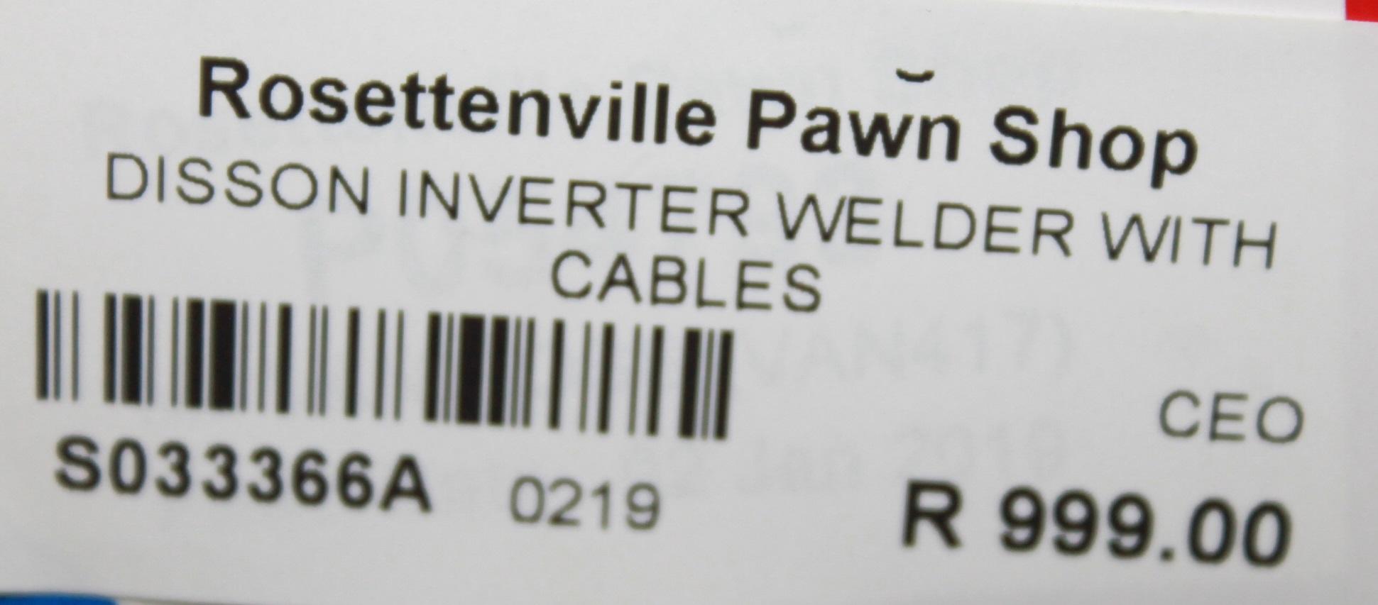 S033366A Disson Inverter Welder #Rosettenvillepawnshop