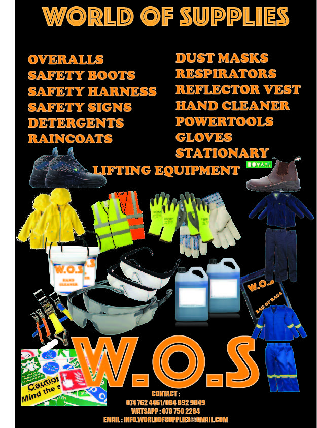 SAFETY WEAR AND EQUIPMENT/DETERGENTS