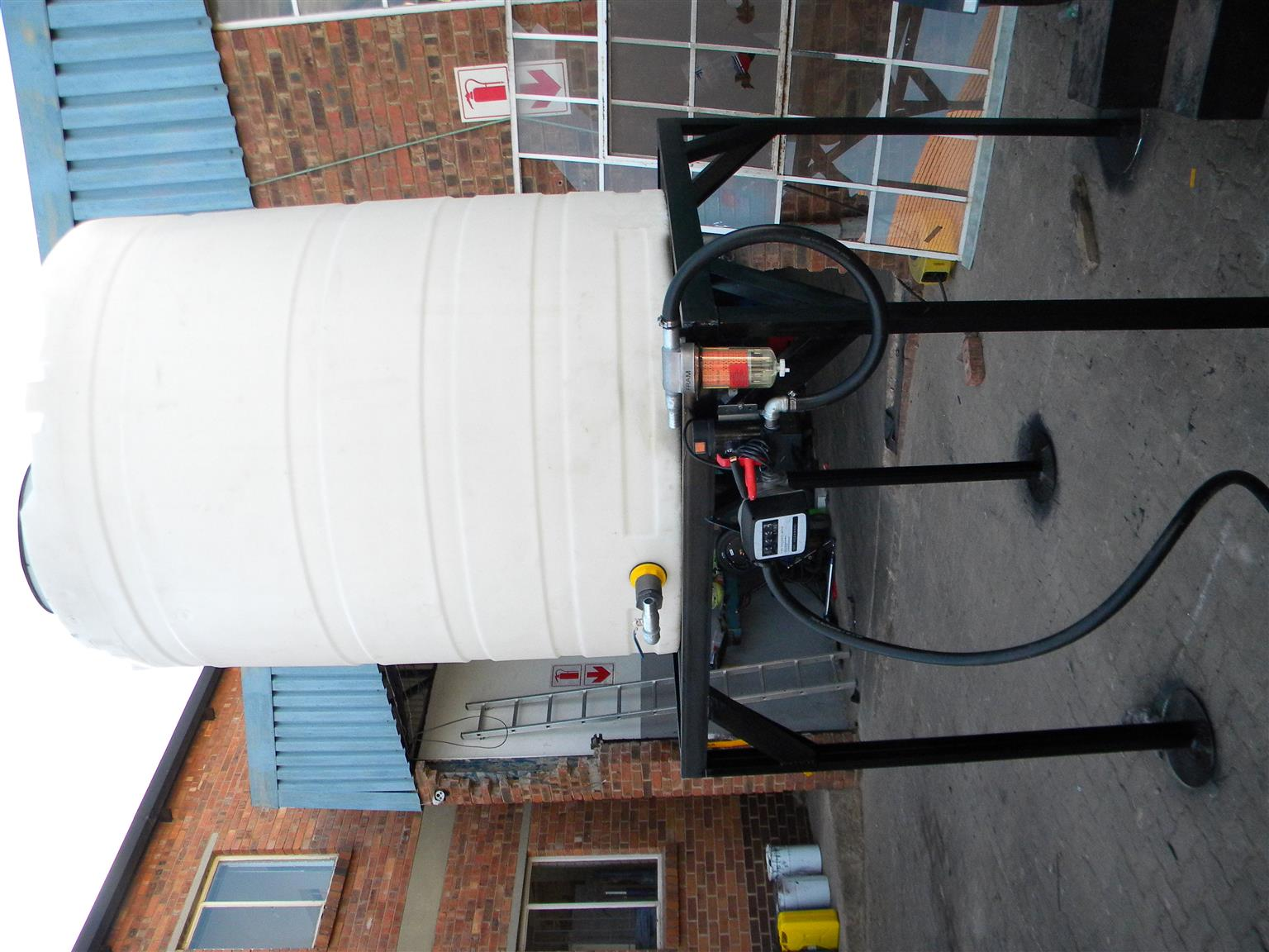TANK ON STAND