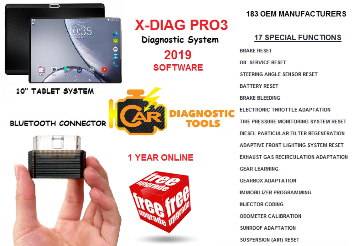 X-DIAG PRO3™ DIAGNOSTIC, KEY PROGRAMMING & ECU CODING SYSTEM (PRE-ORDER  STOCK ONLY)