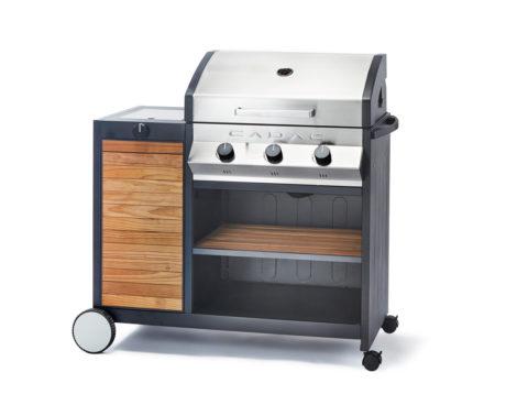 Meridian Woody 3 Gas braai with side burner for sale
