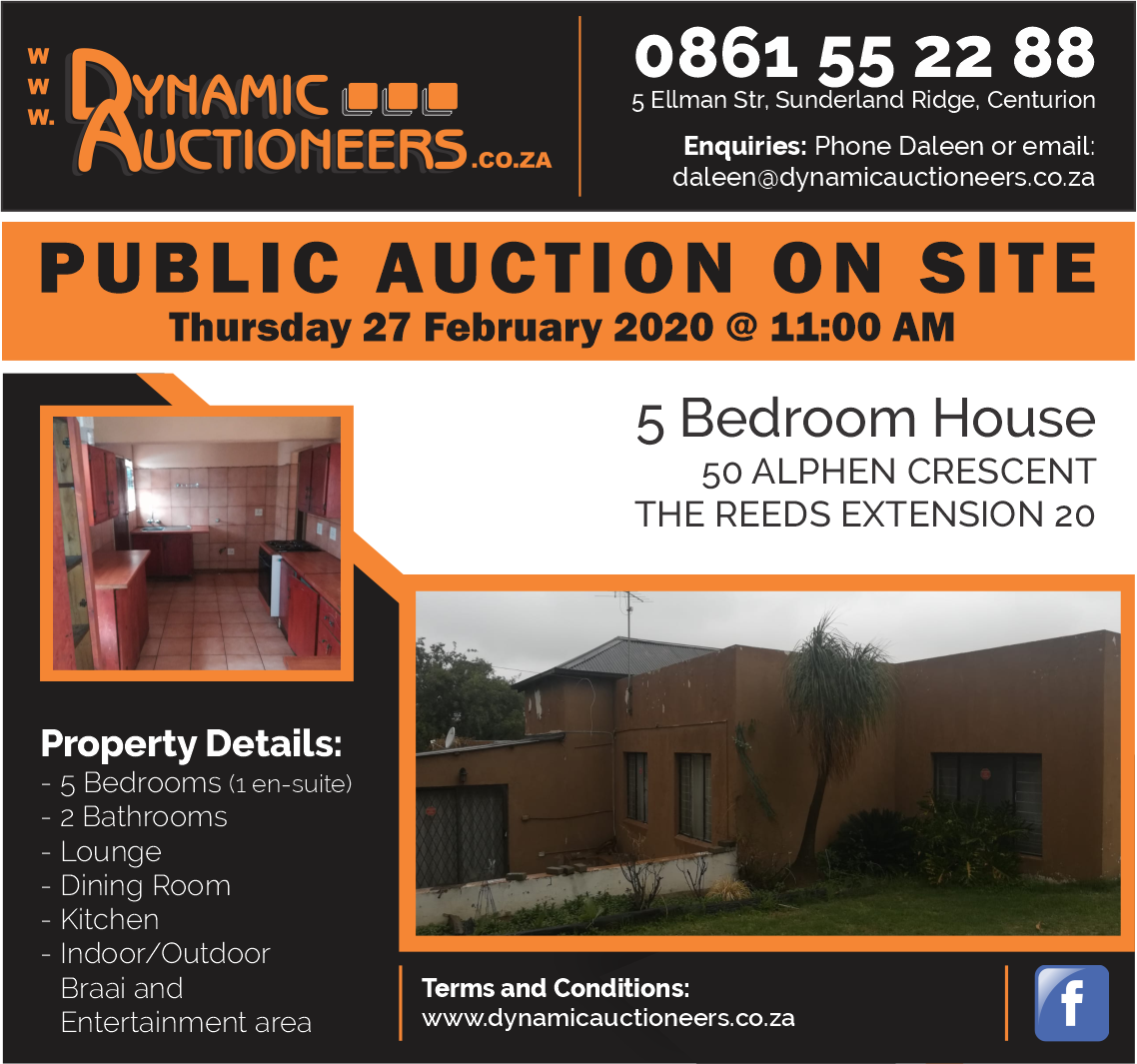 5 Bedroom home on Auction