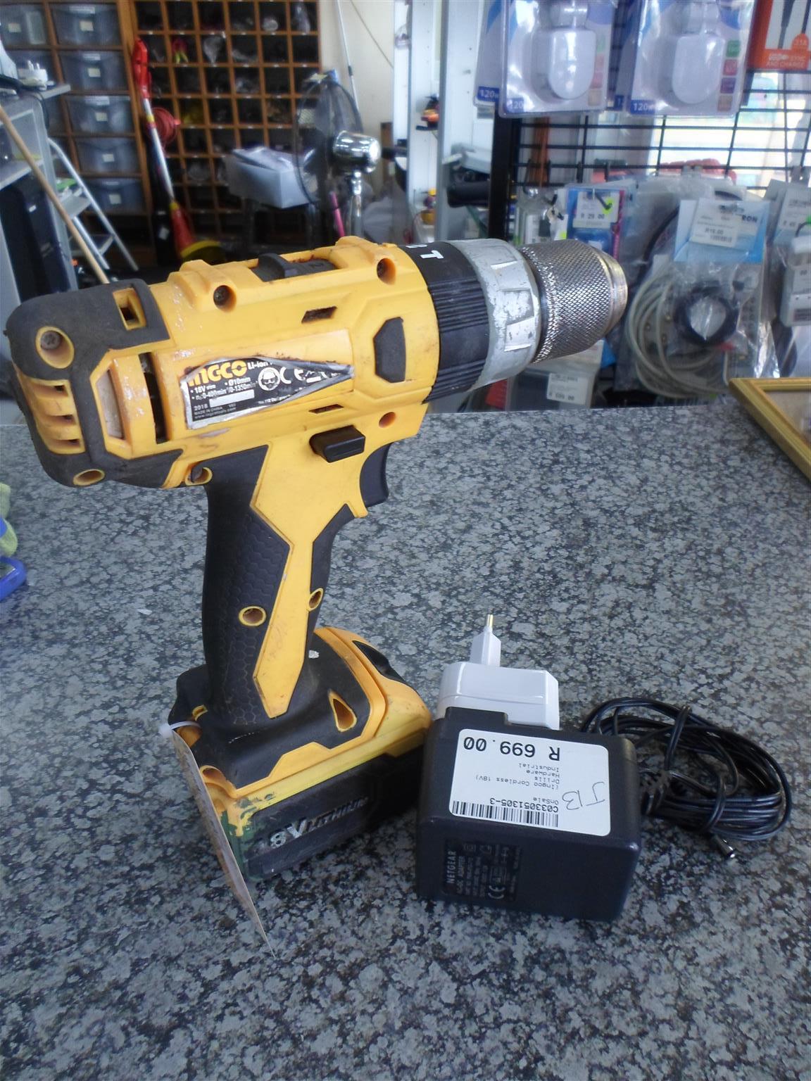 18V Ingco Cordless Drill