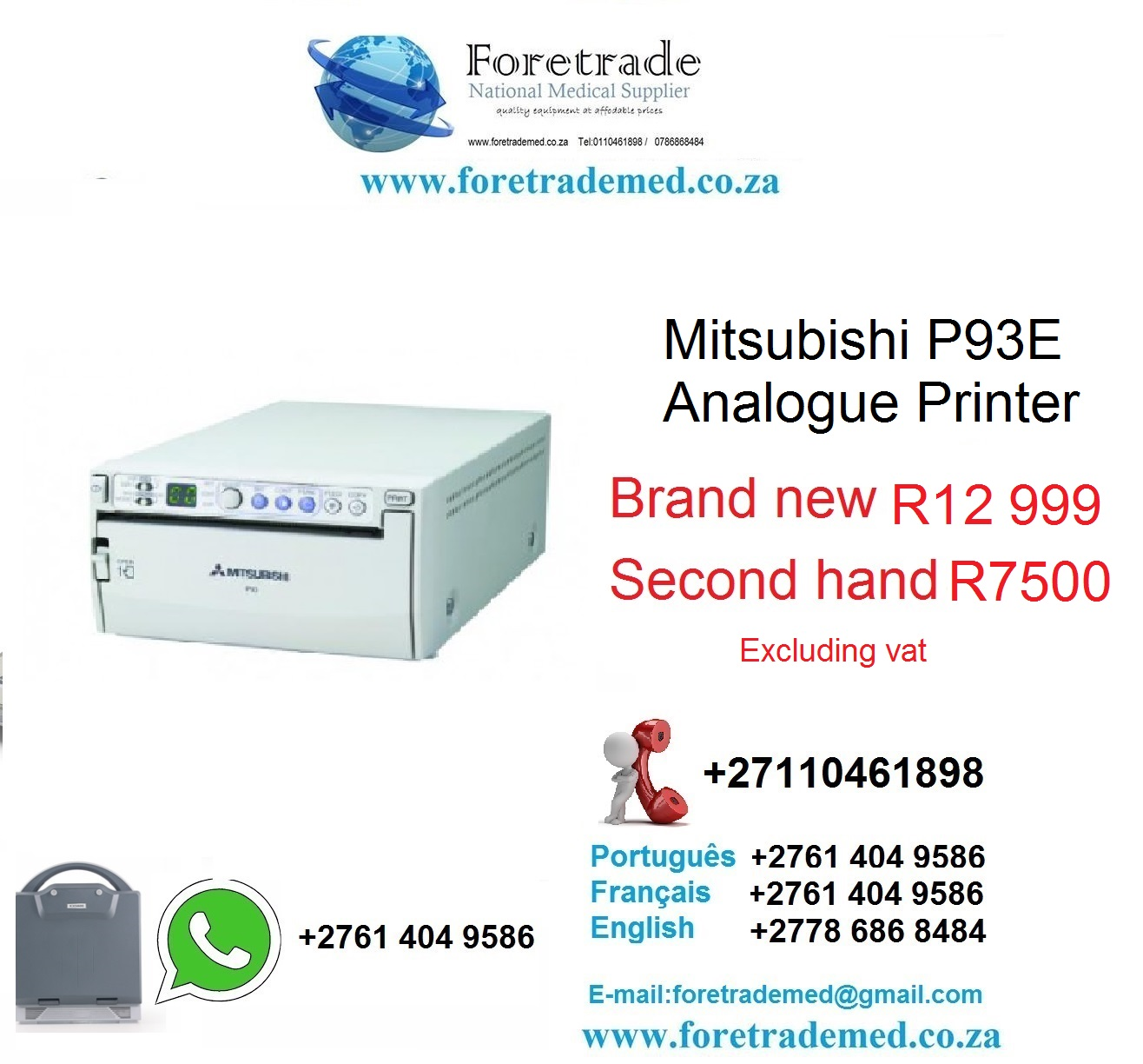 Mitsubishi ultrasound printer for only R12999 CONTACT PATRICK ON 0110461898