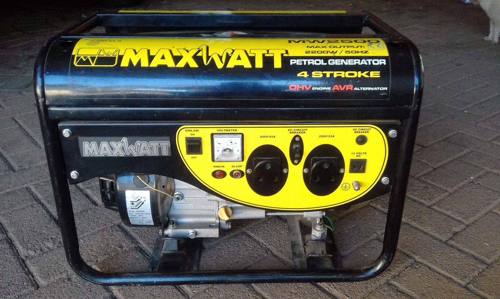 Maxwatt Generator For Sale Junk Mail Voltmeter Ac Wiring Circuits