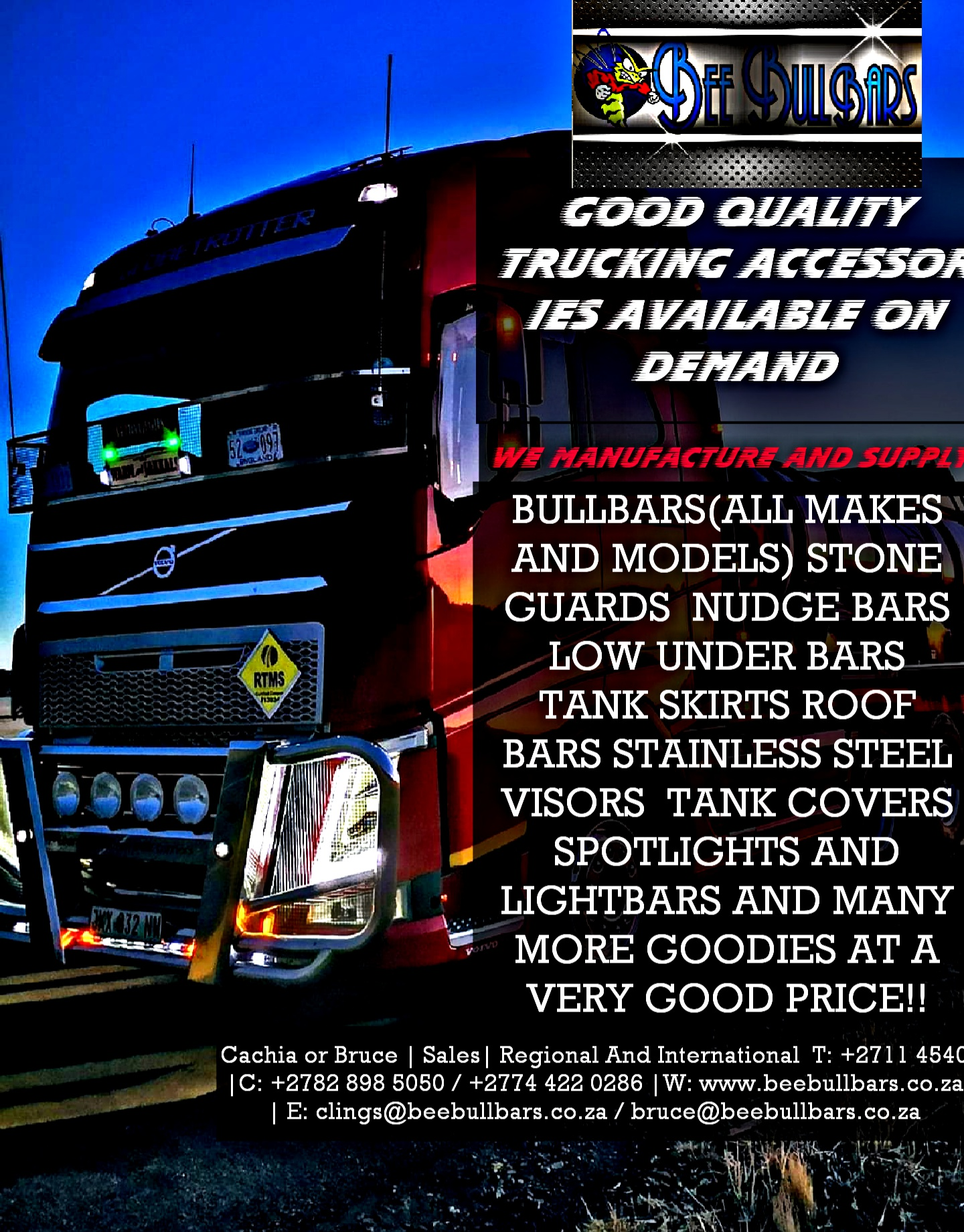 TRUCKING ACCESSORIES FOR ALL TRUCKS AND BUSES