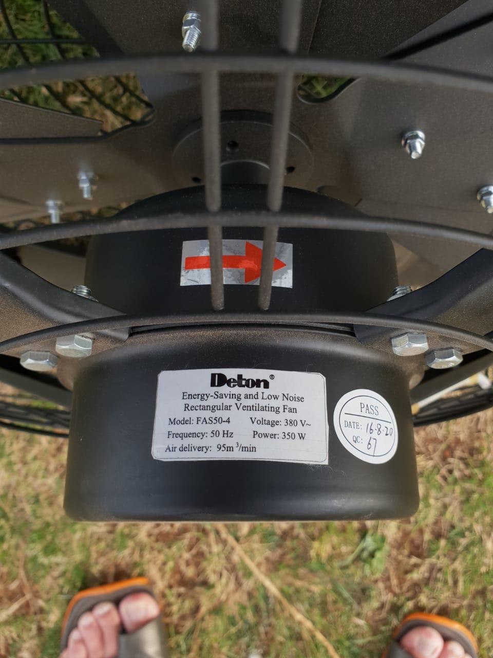 3x Deton Ventilation Fan