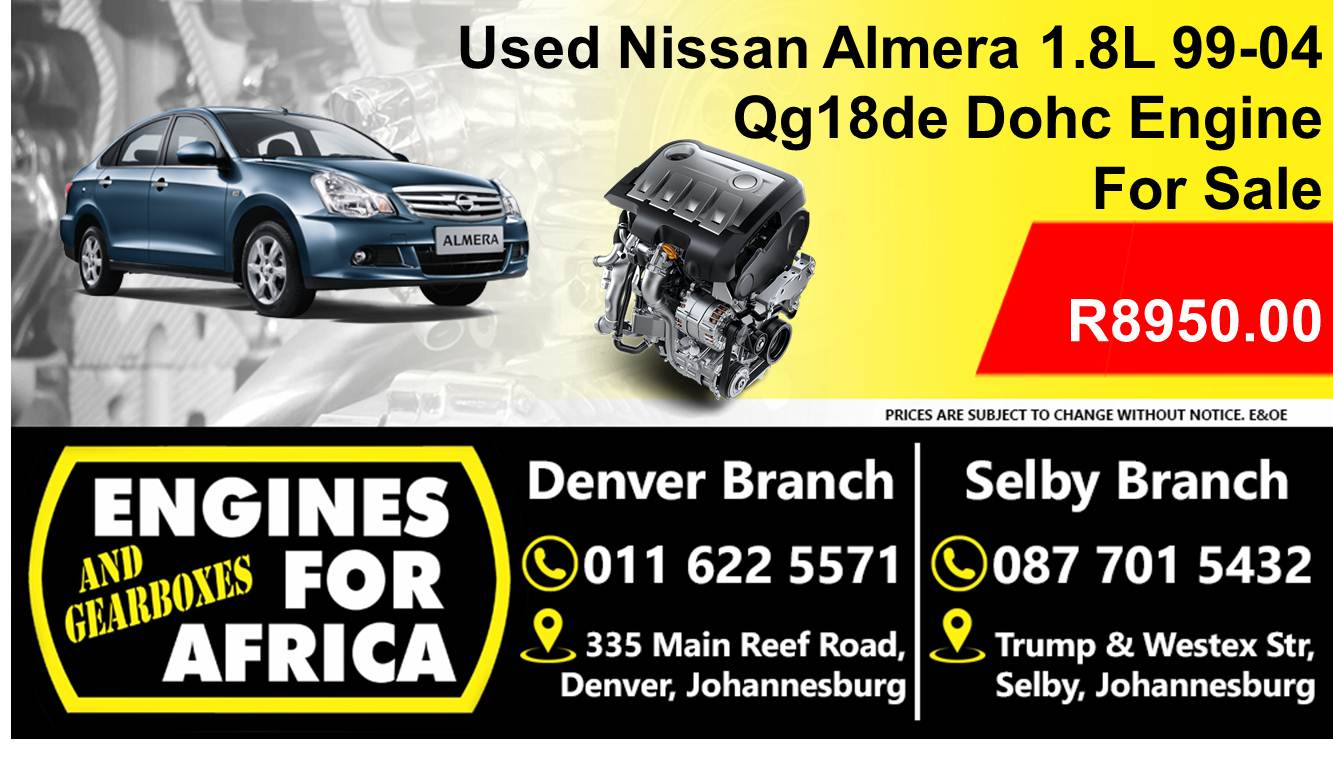 used nissan almera 1 8l dohc 99 04 qg18de engine for sale junk mail