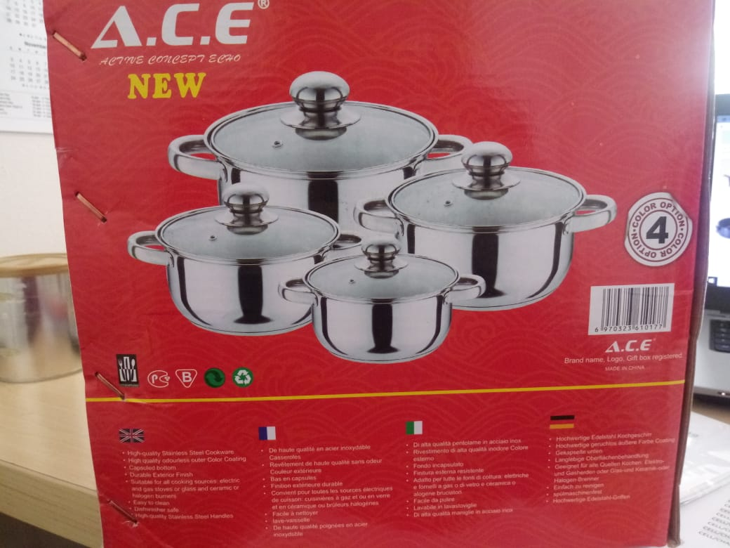 8 PIECE STAINLESS STEEL COOKWARE SET