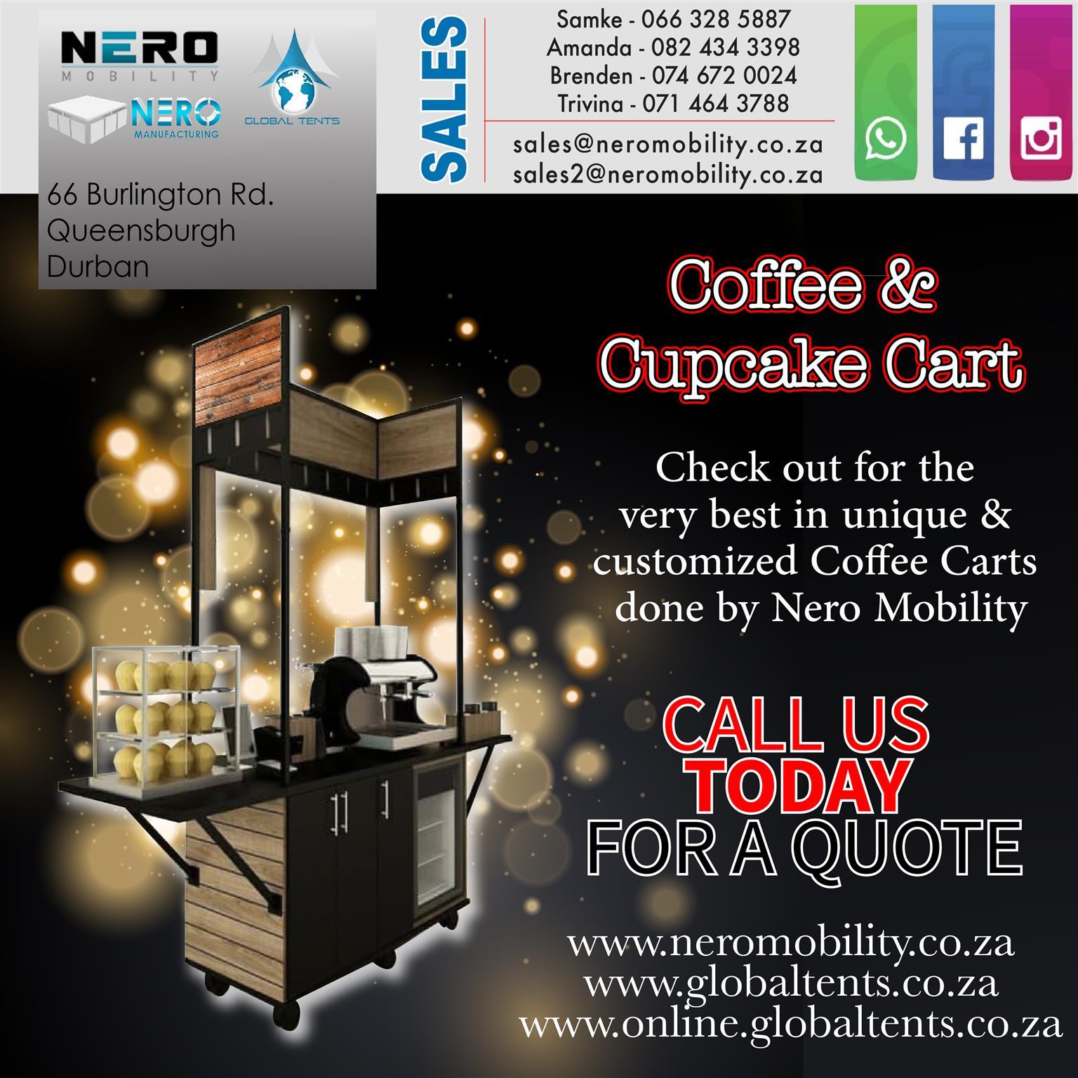 Coffee and cupcake cart