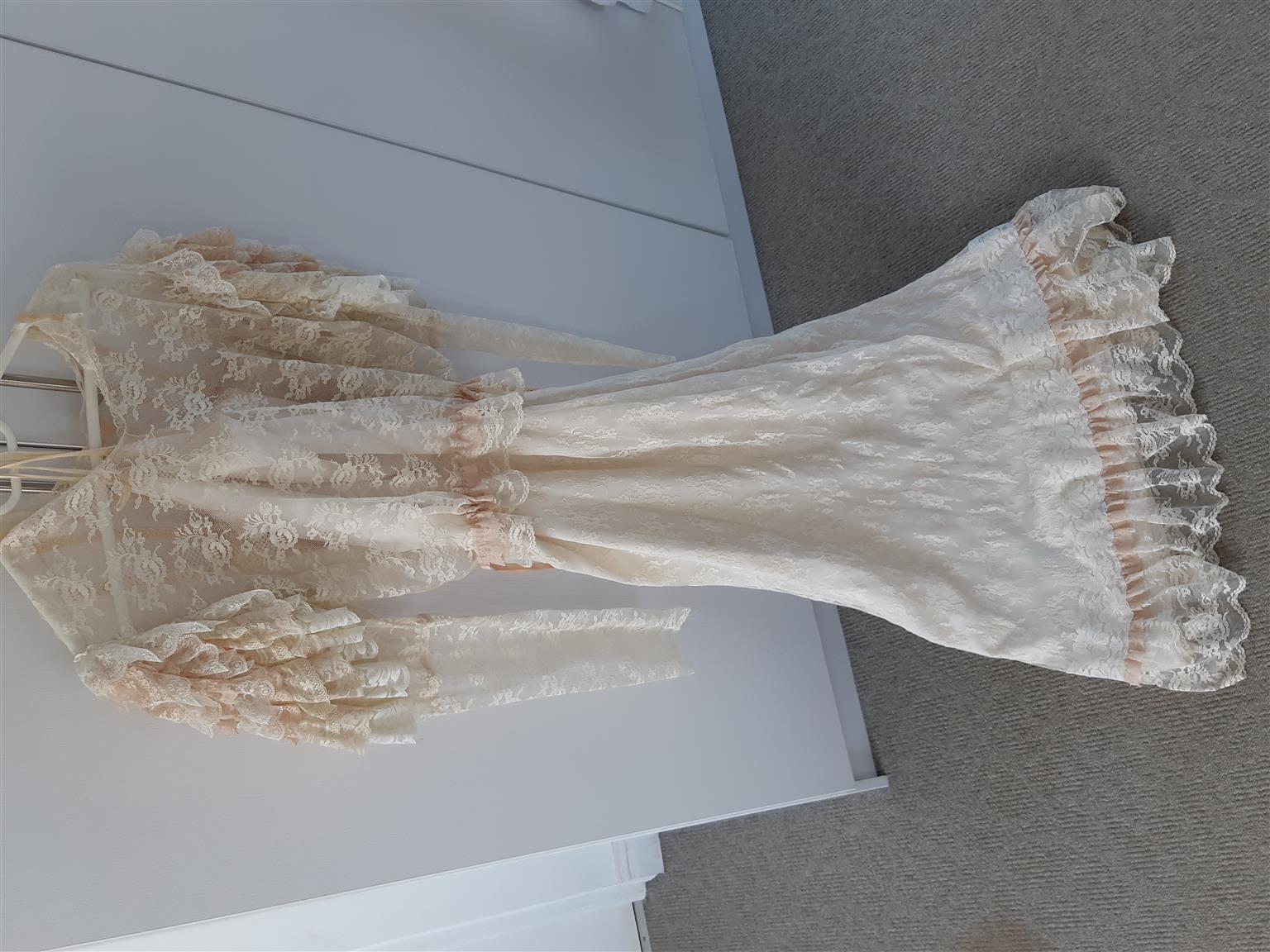 Beautiful Long Vintage Lace Dress