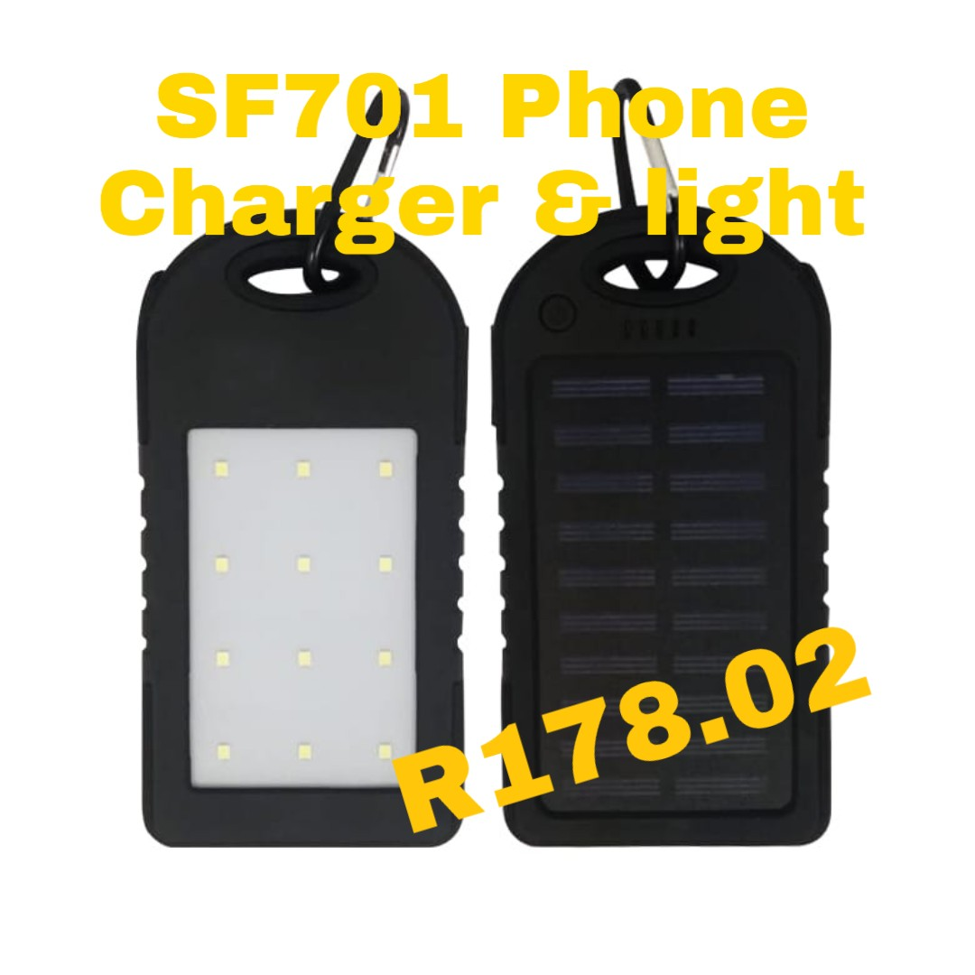Solar light and phone charger