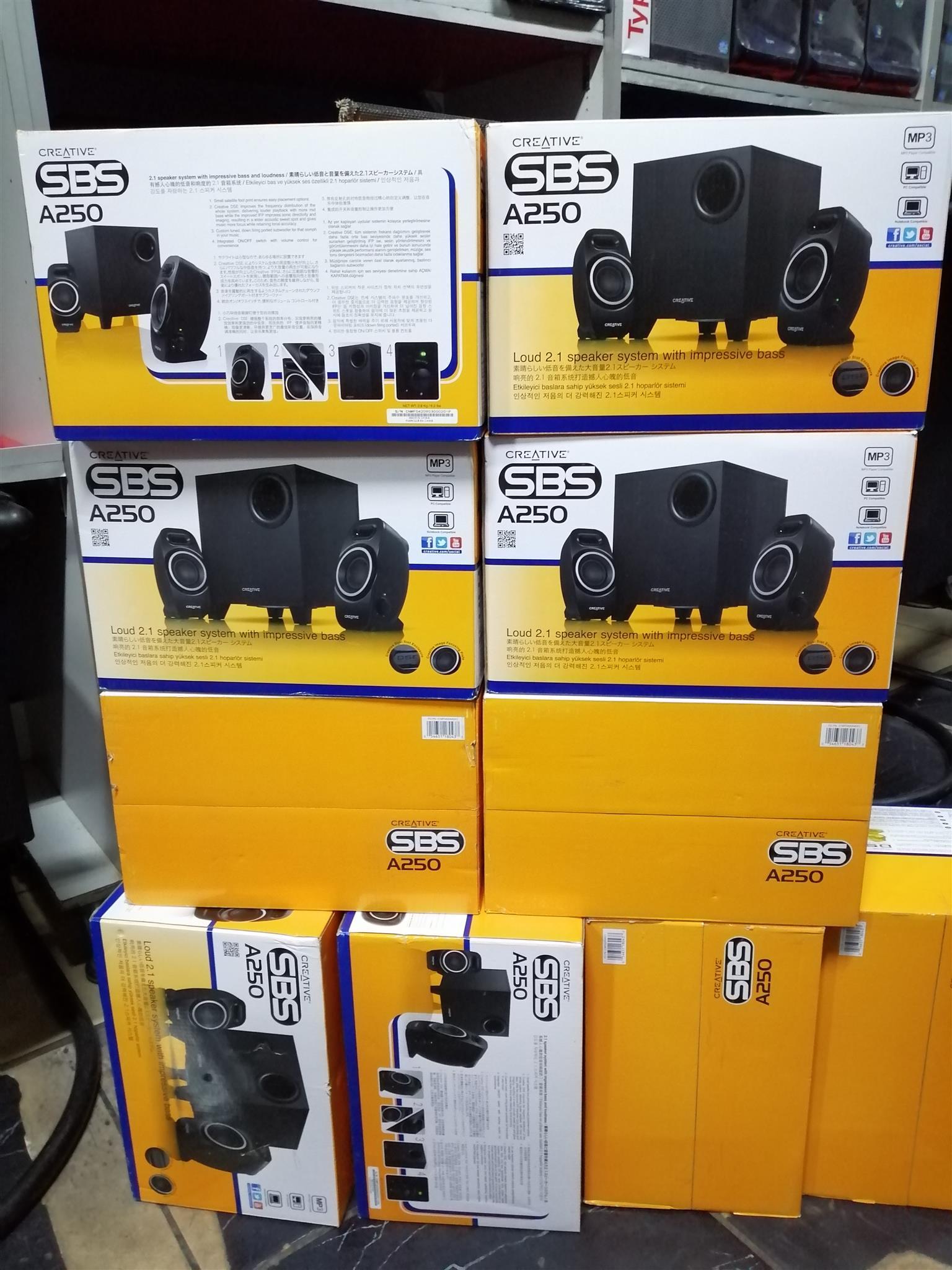 Creative SBS A250 2.1 Desktop Speakers - Black