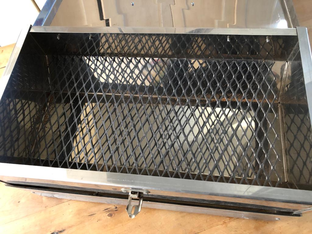 Large Stainless Steel smoker - complete with wood chips - as new condition