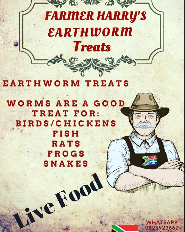 Farmer Harrys Earthworms - Garden ,Composting , Fishing and Pet Treats