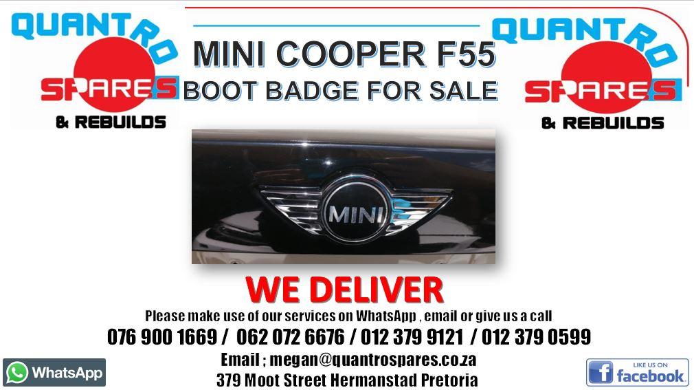 Mini Cooper F55 boot badge for sale