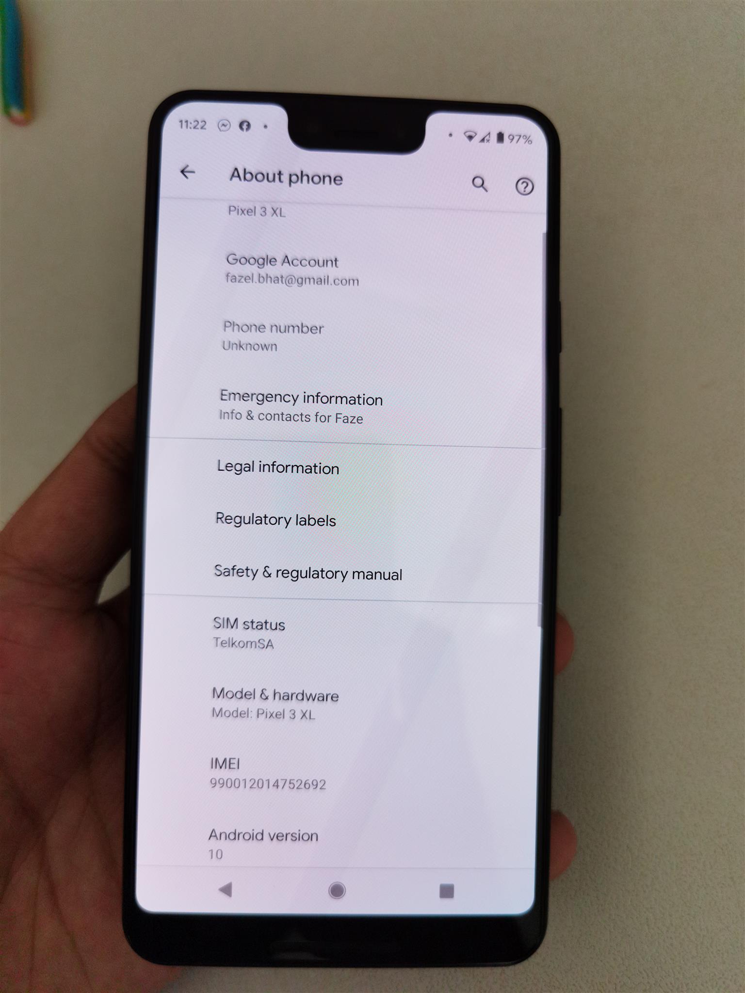 Google pixel 3 xl 64gb black