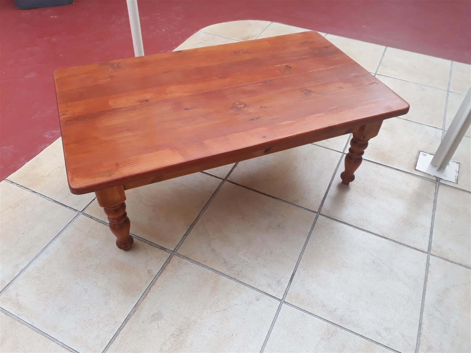Solid Oregon Pine coffee table