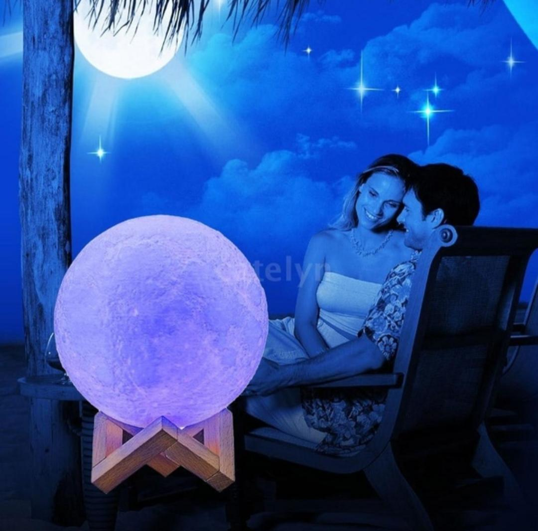 8 Color Setting Moon Lamps