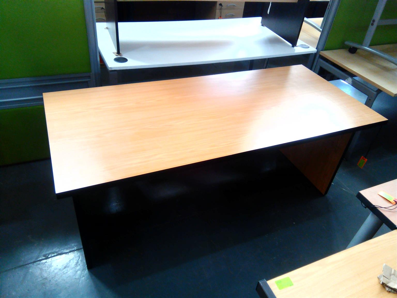 Oak straight desk