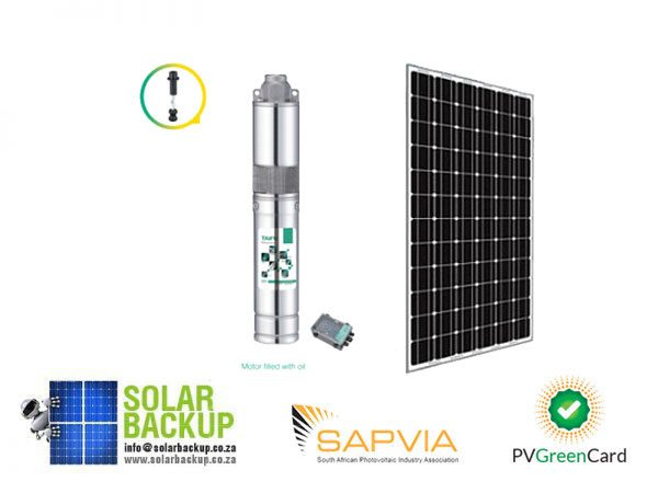 Solar Submersible Borehole Pump Kit ( 55m maximum head, 24V,250W )