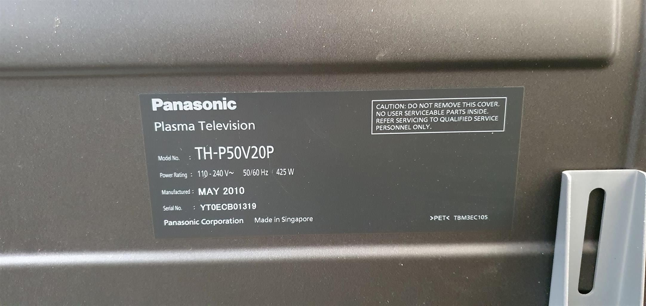 Panasonic TH P50V20P plasma tv for parts