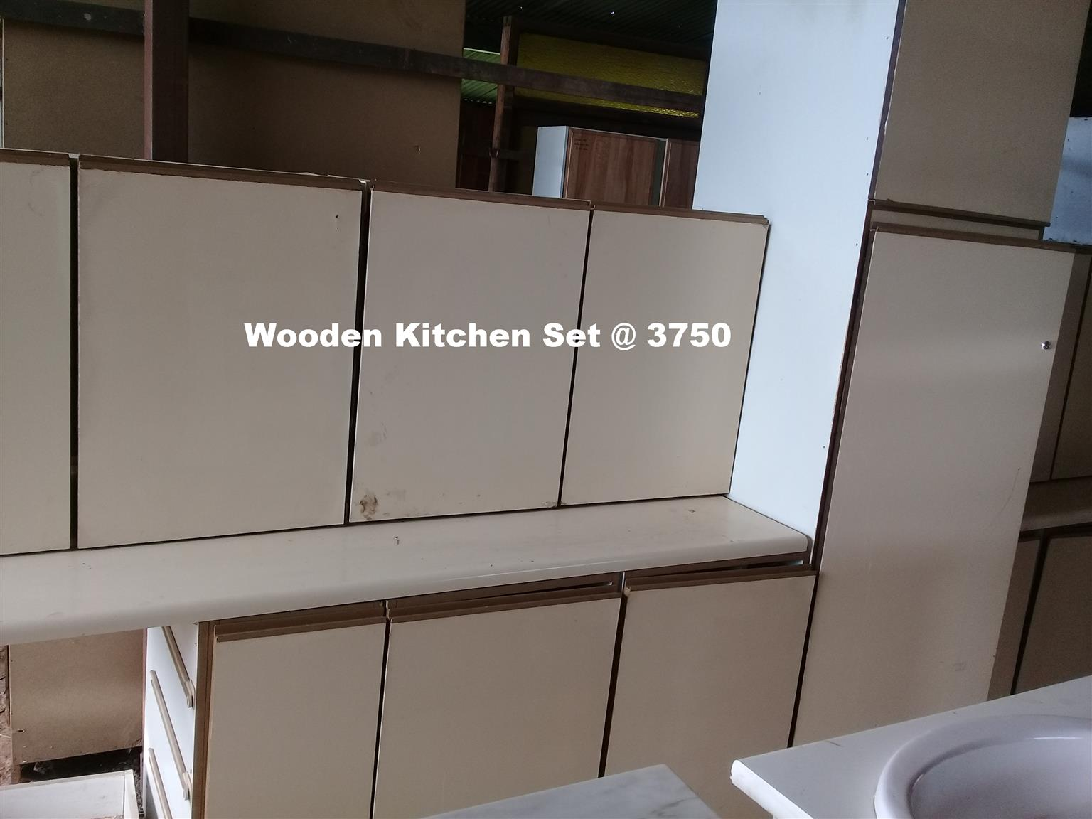 Wooden kitchen set junk mail