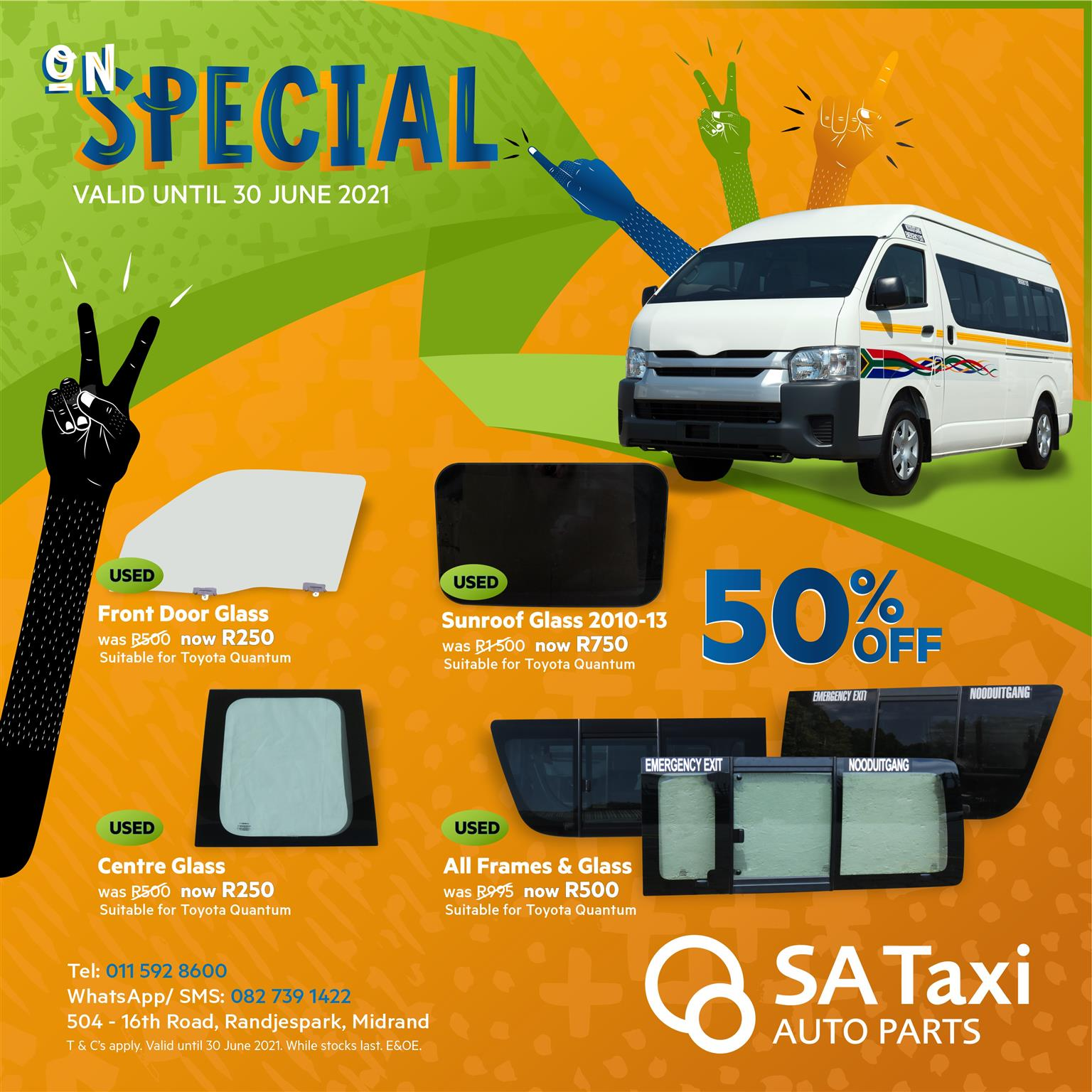 GLASS SPECIAL - Quality Used Glass for Toyota Quantum
