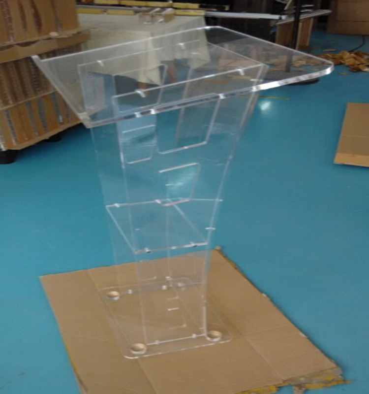 Perspex acrylic podium and lectern
