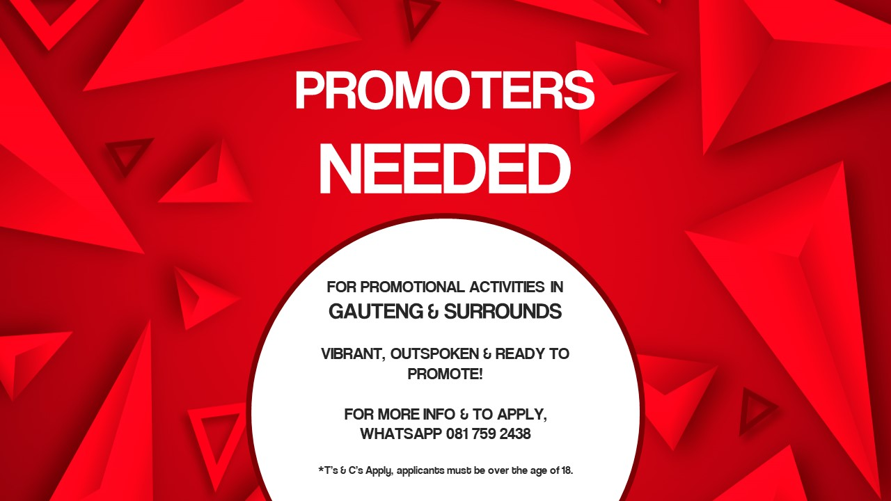PROMOTERS NEEDED!!!
