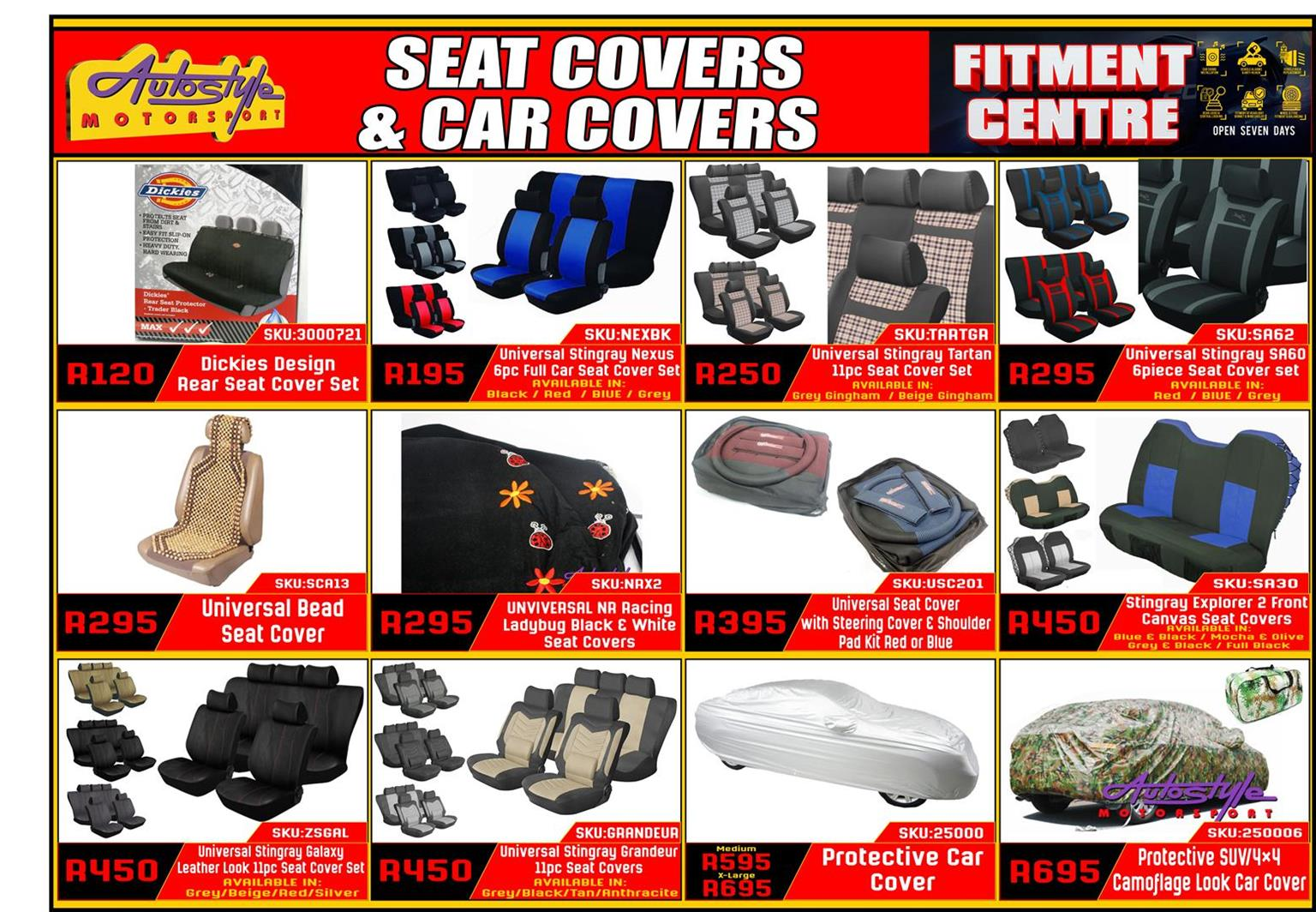 Sear covers, seat protectors, car covers