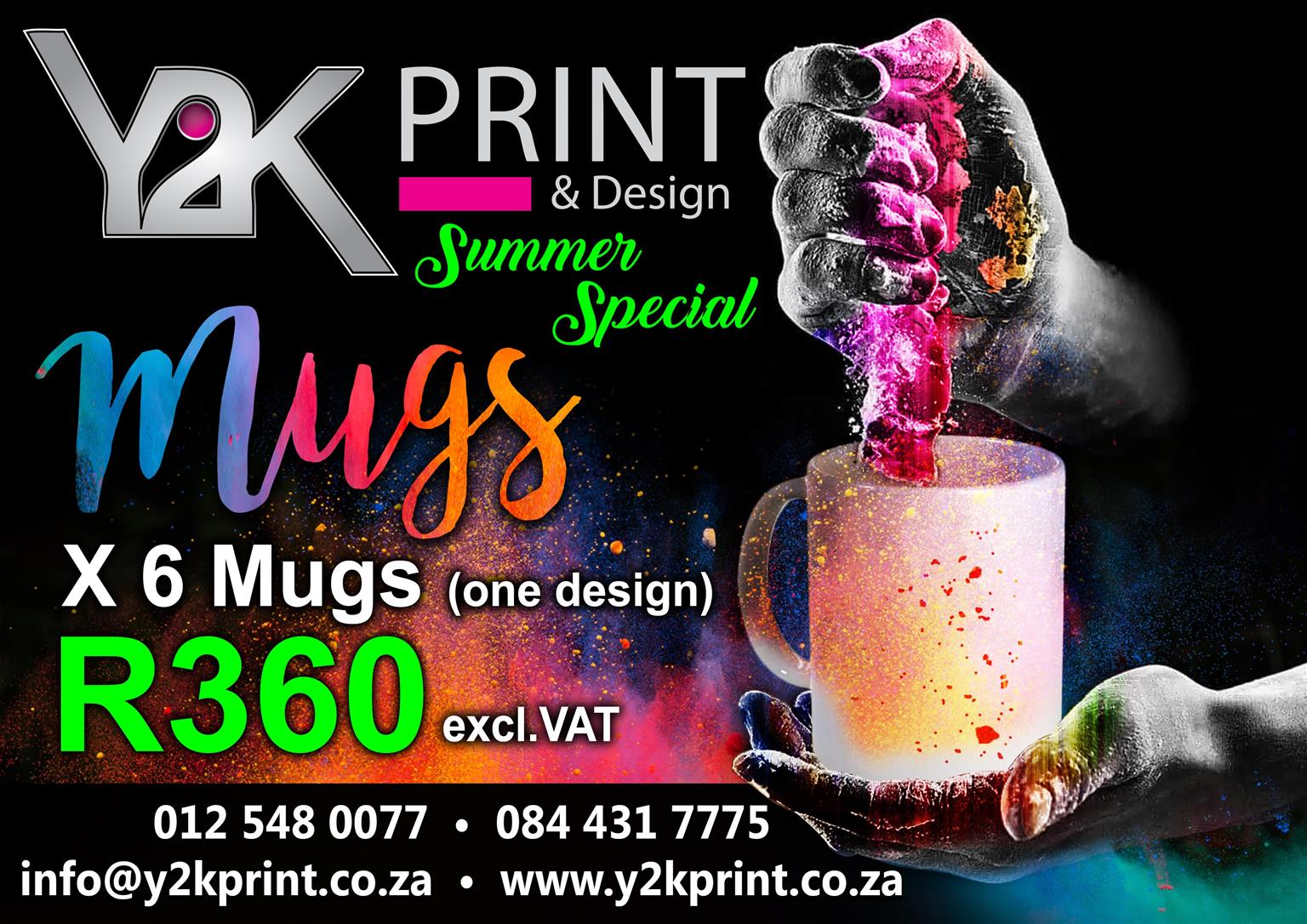 Summer Special on printed Mugs