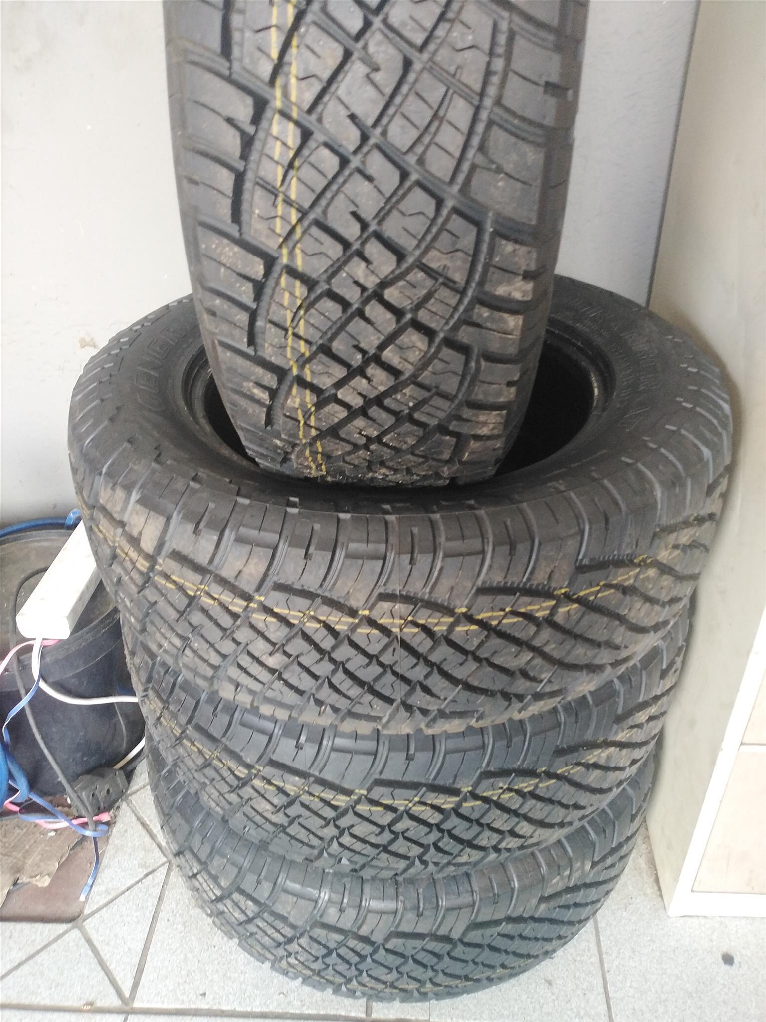 255/60/18 General grabber AT tyres