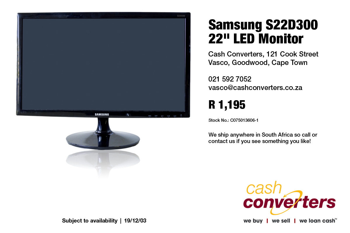 "Samsung S22D300 22"" LED Monitor"