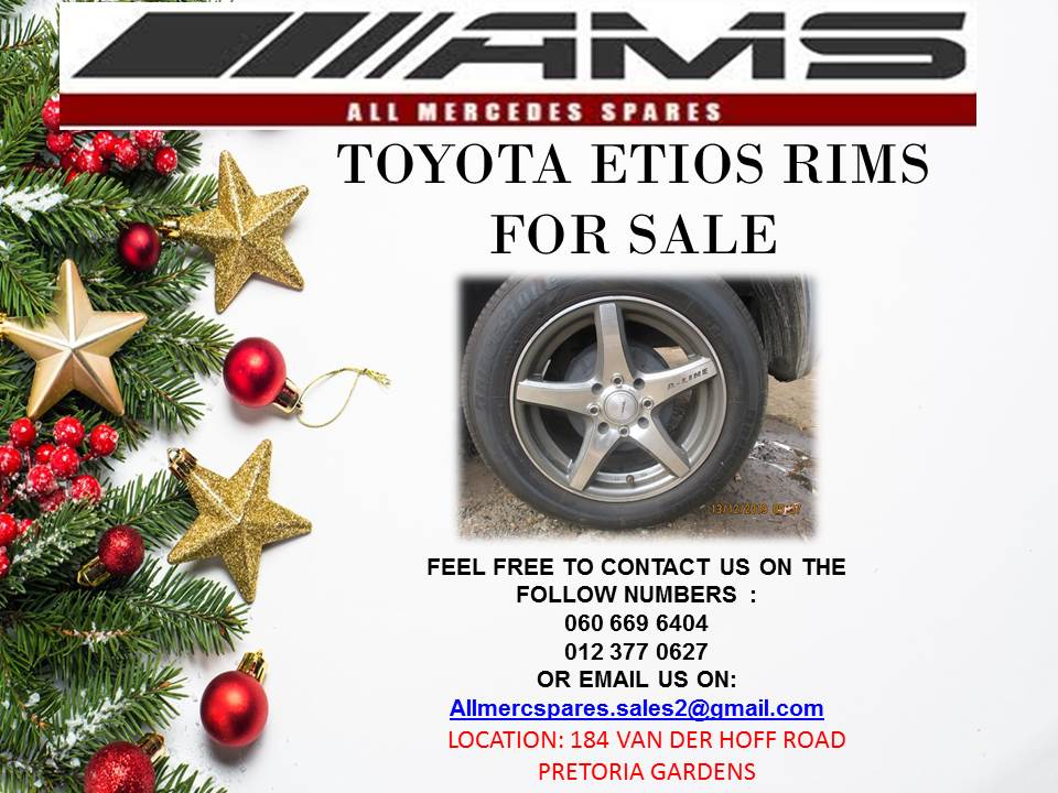 CHRISTMAS SPECIALS !!!! TOYOTA ETIOS RIMS FOR SALE