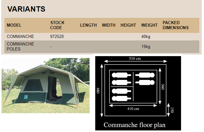 6 Sleeper HOWLING MOON TENT: Comanche