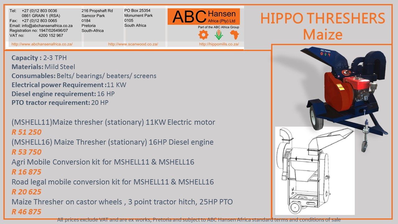 Hippo Maize Thresher