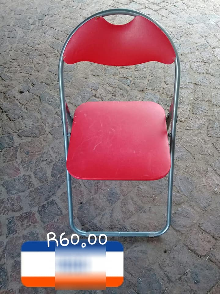 Red fold up chair for sale
