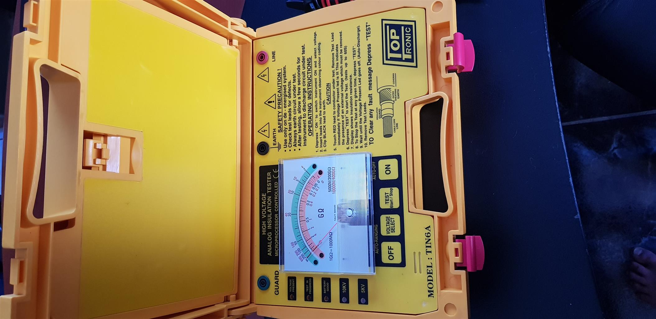 Electrical High Voltage Insulation Tester Top Tronic Model TIN6A