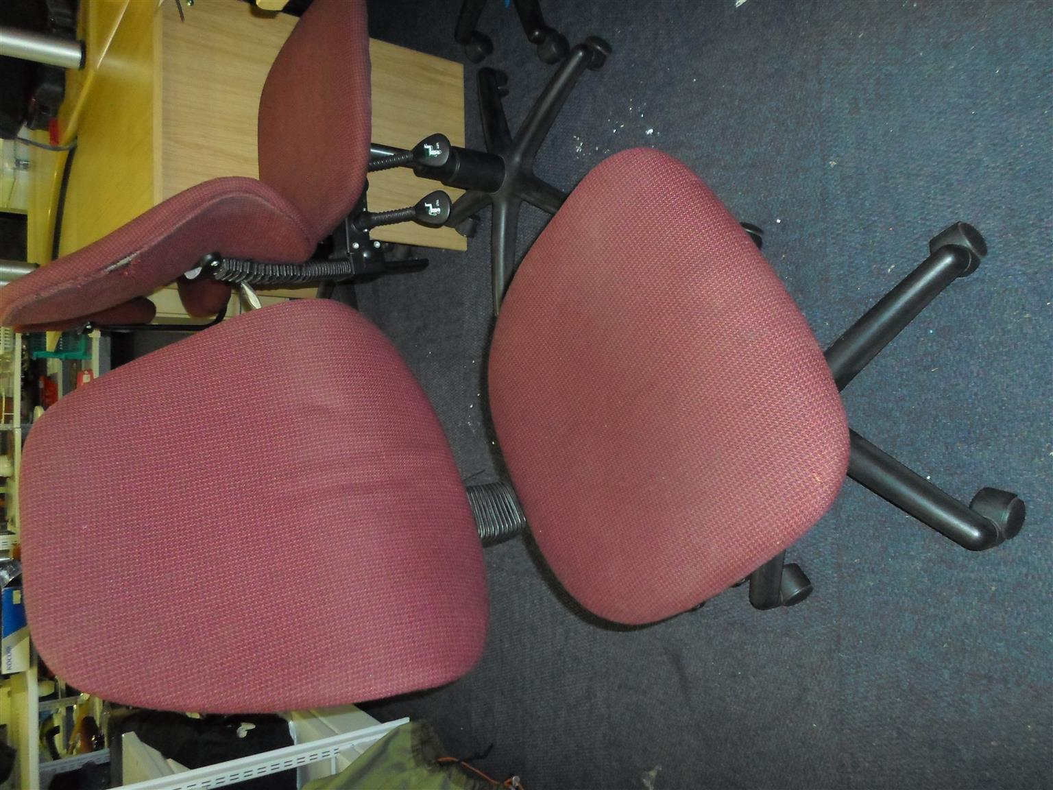 28 x Material Office Chairs