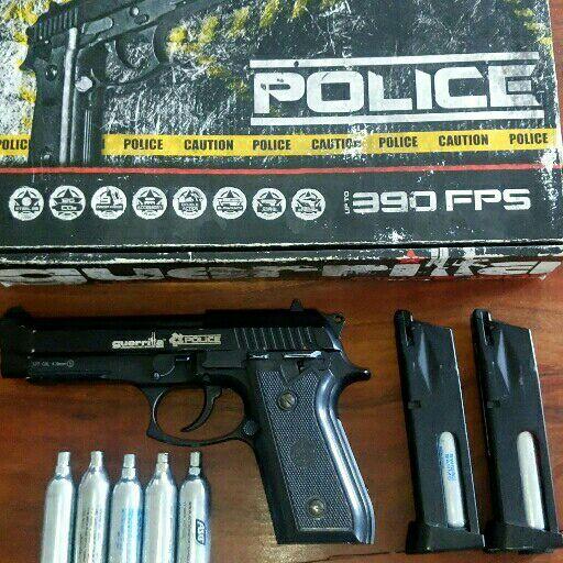 Police Guerrilla 177 CAL, 4.5mm gas bb gun