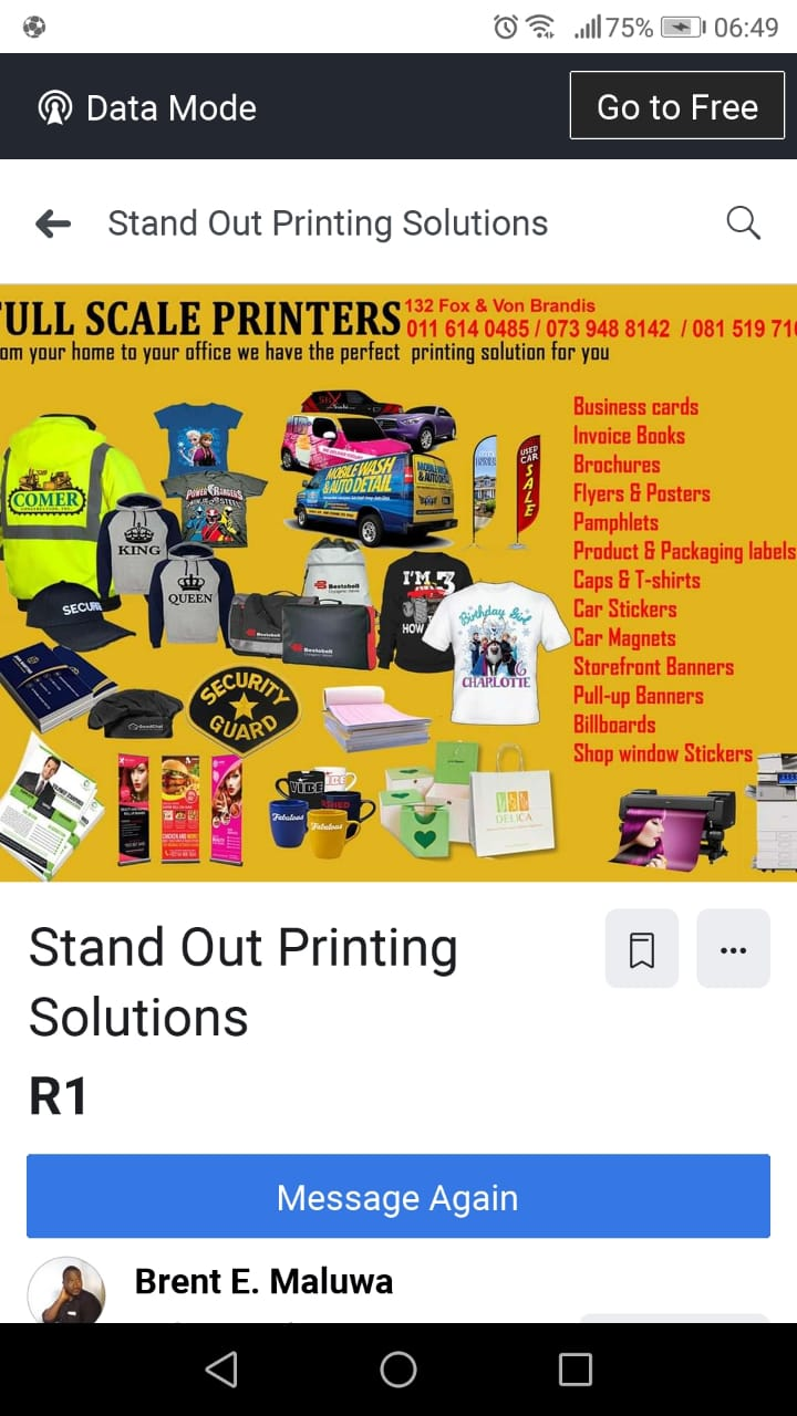 Graphic design, Printing and delivery services
