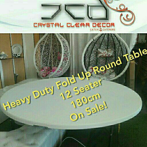 NEW Fold Up Heavy Duty Tables Round 12 Seater On Sale!